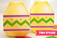 Easter Egg Favor Box - DIY Printable PDF via Piggy Bank Parties Theses are available in two styles!