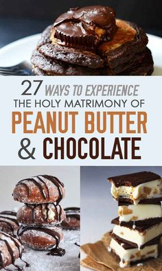 27 Ways To Experience The Holy Matrimony Of Peanut Butter And Chocolate. These look so good
