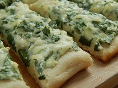 Weight Watco Ihers SmartPoints=3: Spinach and Artichoke Pizza Fingers