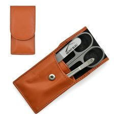 Hans Kniebes' Sonnenschein Manicure Set with crystal nail file, in Nappa Leather Case made in Germany About the product Product description Color: Orange Manicure set made in Germany by Hans Kniebes with Mont Bleu crystal na.