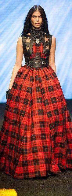 Philip Plein - Fall 2014 | The House of Beccaria# Wow Wow Wow - Tartan is back