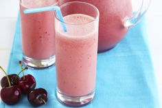 This get-up-and-go smoothie blends cherries, vanilla and orange juice for a great morning start.