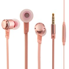 M410 Metal Earphone Flat Wired Earbuds Super Bass Hifi Earphones Headset with Mic for iphone For Xiaomi