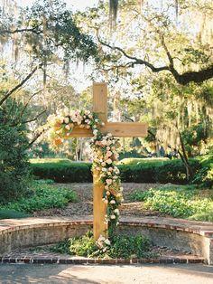 Weddings UnVeiled – Spring/Summer 2016 Trendy Wedding, Floral Wedding, Diy Wedding, Wedding Flowers, Wedding Ideas, Wedding Ceremony Backdrop, Ceremony Decorations, Garland Wedding, Wedding Aisles