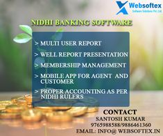 Our fully featured Nidhi banking Online software enables to run & manage your Company. We websoftex software solution are lead in providing Nidhi Software with free demo all over India. Our Nidhi Software is build to meet your complete Nidhi company Operation process with direction of all experienced people ,who are managing such institution. #OnlineNidhiSoftware #NidhiSoftwareCompany  #topNidhiSoftware #NidhiSoftwareWebBasedApplication #IndiaBestNidhiSoftware Banking Software, Enabling, Mobile App, Accounting, Management, Meet, India, People, Goa India