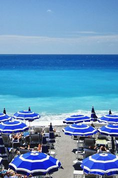 Blue Beach in Nice France/// I like the contrast of the different shades in this pic.