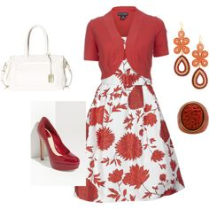 Red and White, created by kmckernan98 on Polyvore