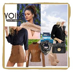 """""""Yoins II/3"""" by nihada-niky ❤ liked on Polyvore featuring H&M, Nine West, MustHave, fall2015 and yoins"""
