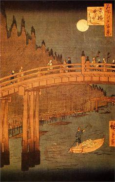 The road connecting Edo (Tokyo) and Kyoto - Hiroshige, 1856-1858