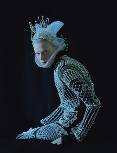 """Dame of Thrones"". Kristen McMenamy by Tim Walker for W September 2012"