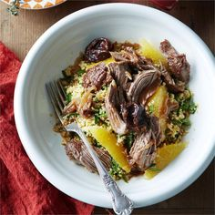 At the end of this recipe you will be rewarded with tender, fall apart lamb on a bed of citrus couscous.