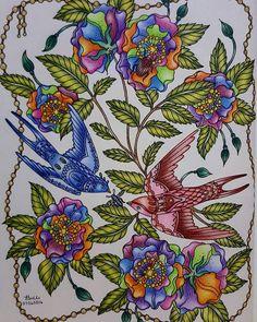 Colored petals, my creative side... #sommarnattmålarbok #sommarnatt #myhobby…