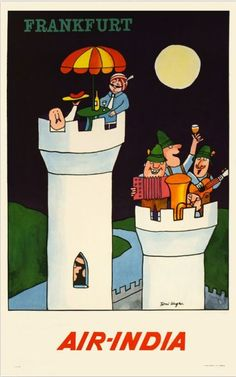 Frankfurt - Vintage Air India Poster #india: