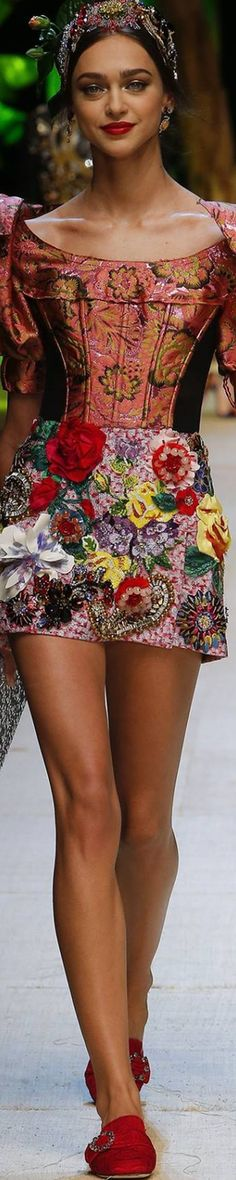 fashion, Spring 2017 RTW, Dolce & Gabbana, RUNWAY, Dolce & Gabbana Spring 2017 RTW