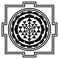 The ancient Shri Yantra symbol is one of the earliest examples of sacred geometry. But few know the meaning of the Shri Yantra, or how to use it. Learn the benefits and uses of this sacred symbol. Spiritual Symbols, Sacred Symbols, Symbols And Meanings, Magic Symbols, Viking Symbols, Sacred Geometry Meanings, Sacred Geometry Patterns, Home Design, Sri Yantra Tattoo