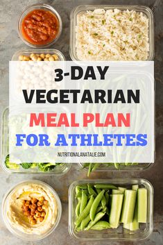Get the free Vegetarian Meal Plan For Athletes delivered straight to your inbox! Vegetarian Main Dishes, Vegetarian Snacks, Vegetarian Recipes Dinner, Healthy Snacks, Vegan Recipes, Dinner Recipes, Athlete Meal Plan, Nutrition For Runners, Meal Prep For Beginners