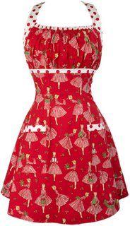 Vintage style Christmas apron