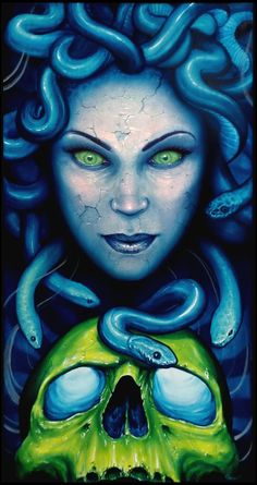 Medusa Painting no border by cbader