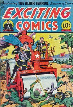 Superheroes propaganda WWII