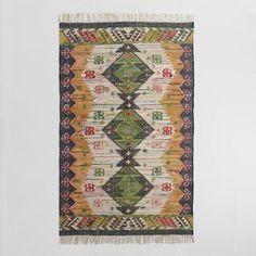 One of my favorite discoveries at WorldMarket.com: 5'x8' Boho Woven Cotton Kilim Alina Area Rug