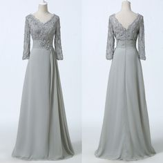 Mother of the Groom 3/4 Long Sleeve Vintage Evening Prom Gowns Plus Size Dresses #GraceKarin #BallGown #Cocktail