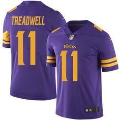 Nike Vikings #11 Laquon Treadwell Purple Men's Stitched NFL Limited Rush Jersey