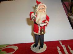 Vintage Santa composition and cloth Santa