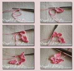 Crochet Butterfly - Tutorial. @Brandy Rea I'm wondering if can you make heads or tails of the translated directions? I can't figure it out, even with the photos.