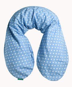 """Stillkissenbezug, Sterne Der Stillkissenbezug ist aus feiner, bedruckter Baumwolle. Er wird oben mit einem Reißverschluss geschlossen, so dass man das Stillkissen einfach einziehen kann. Gerne können Sie auch das passende Stillkissen dazu von uns erwerben. Den Bezug gibt es auch kleiner als Lagerungskissen sowie in einer """"De Luxe"""" Variante. Beschriftung: Prima geeigent! #baby #Stillkissenbezug #Stillkissen #Mommy #Geschenk #GeschenkIdee #GeburtGeschenk"""