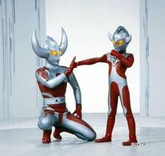 Ultra Father and Son (young Ultraman Taro).