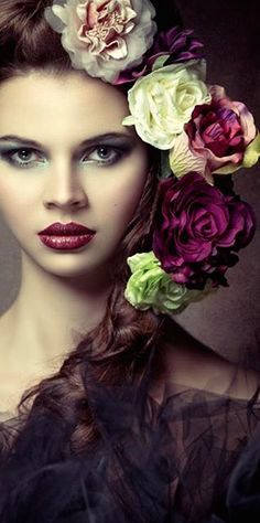 Image uploaded by Geonpi. Find images and videos about beautiful, hair and flowers on We Heart It - the app to get lost in what you love. Portrait Photography, Fashion Photography, Photography Flowers, Makeup Photography, Foto Fashion, Hair Images, Floral Fashion, Trendy Fashion, Fascinators