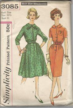 1950s Dress Pattern Slim Full Skirt  Uncut Size 20 . 5 by SelmaLee, $9.00