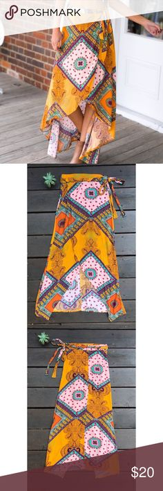 Lovely Bohemian Wrap Skirt Excellent used condition, worn once! Bundle & save 🌼 Skirts Maxi
