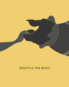 Beautifully simple movie posters - loving Beauty & The Beast, The Lion King, Moulin Rouge, Shaun of the Dead and Titanic.
