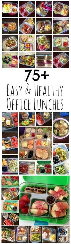 75+ Easy & Healthy Office Lunch Ideas from LauraFuentes.com #easylunchboxes