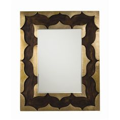 """$1080. 28""""W x 1.5""""D x 35.5""""H -Arteriors Halden Antiqued Brass Small Mirror @Zinc_Door"""