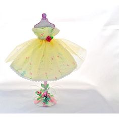 Paper Dresses Art | ... Dress Form Paper Art with Yellow Tulle and Crepe Paper Dress