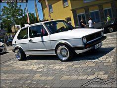 "https://flic.kr/p/9SEVYX   White VW Golf Mk1 GTI on BBS wheels   <a href=""http://woertherseepics.blogspot.com/"" rel=""nofollow"">woertherseepics.blogspot.com/</a>"