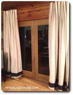 simple no sew drop cloth drapes curtains, crafts, doors, home decor, reupholster, window treatments