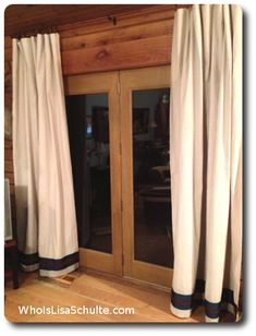 Post image for Simple No Sew Drop Cloth Curtains/Drapes