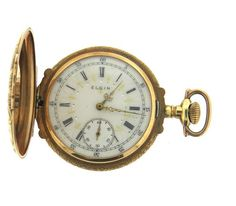 Large Elgin 14k Four Color Gold Fancy Dial Pocket Watch Featured in our upcoming auction on November 2, 2015 11:00AM EST!