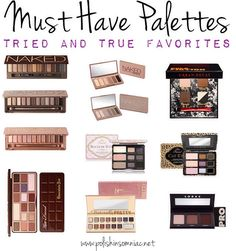 Must Have Makeup Palettes & WHY You Need Them