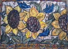 """Beehive Rugs: Gallery of Rugs -- love her """"movement & many shades of a color used"""" in her rugs!"""