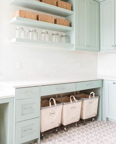 """""""Our in stock Agadir pattern is used in this gorgeous laundry room by Ashley Winn Design in Alpine, Utah. @winnlife #cementtileshop #cementtiles…"""""""