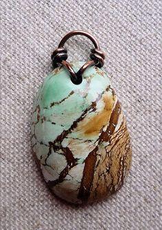 Love The Stone - Turquoise Australian Handmade Pendant Copper Wire Bail Ginnysart - Jewelry On Artfire Copper Jewelry, Turquoise Jewelry, Clay Jewelry, Jewelry Findings, Jewelry Crafts, Jewelry Art, Beaded Jewelry, Handmade Jewelry, Jewelry Design