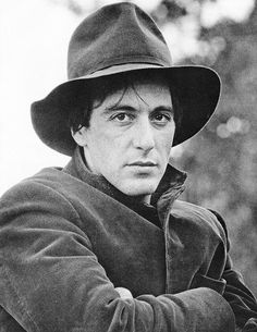 Al Pacino on the set of The Godfather.