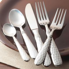 Martellato Five Piece Place Setting | Flatware | Tabletop | VIETRI