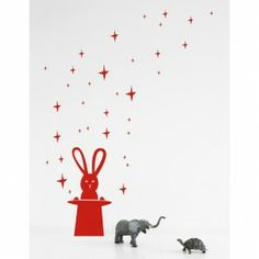 Fantastisch is deze muursticker Magic Bunny uit de collectie van Ferm Living.