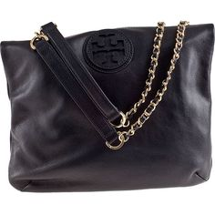 TORY BURCH HANDBAGS Marion Book Bag Black Leather (€335) ❤ liked on Polyvore featuring bags, handbags, shoulder bags, purses, bolsas, accessories, black, over the shoulder bag, black leather shoulder bag and leather crossbody purse
