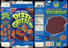 Teddy Grahams Dizzy Grizzlies cookies